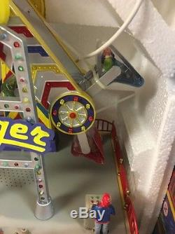 Lemax Carole Towne ZINGER Animated Amusement Carnival Ride Very Rare NEW