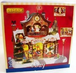 Lemax Christmas SANTA'S WORKSHOP #35558 NRFB Sights & Sounds Wonderland Village