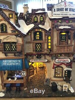 Lemax Christmas Taste Of Italy & Old Venice Ristorante Village Buildings Lights
