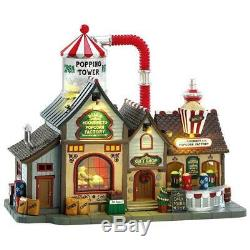 Lemax Christmas Village BELL'S GOURMET POPCORN FACTORY #75188 Sights & Sounds