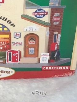 Lemax Christmas Village Charlie's Garage Craftsman Detail Shop Lighted