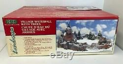 Lemax Christmas Village Landscape Display Platform with Waterfall and Trees