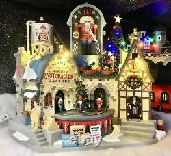 Lemax Christmas Village Ludwigs Wooden Nutcracker Factory NEW in box Animated
