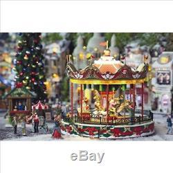 lemax christmas village santa carousel by lemax - Lemax Christmas Village