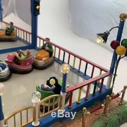 Lemax Crazy Cars Animated carnival train village Bumper Cars Sights & Sounds