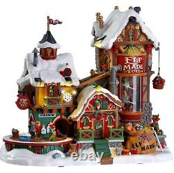 Lemax ELF MADE FACTORY #75190 BNIB Sights Sounds Animation