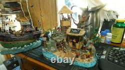 Lemax Halloween Spooky Town Pirates PIRATES HIDEOUT, AND TRANSYLVINIA TRANSPORT