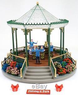 Lemax Holiday Garden Green Bandstand Christmas Village Miniature Figurine #94551