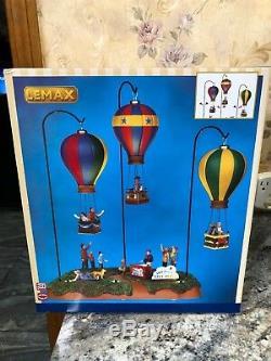 Lemax Hot Air Balloon Scene Sky High City Park Animated Lighted Christmas Villag