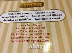 Lemax -Mrs. Claus Kitchen-Sights & Sounds Animated Holiday Village