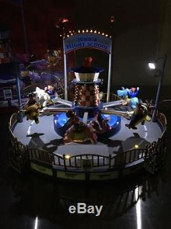 Lemax Multi-Action/Lights Junior Flight School Amusement Ride WithSounds MIB