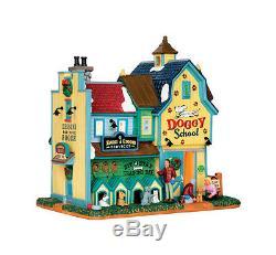 Lemax Rex &Spot's Doggy School Porcelain Village Building Pack Of 4