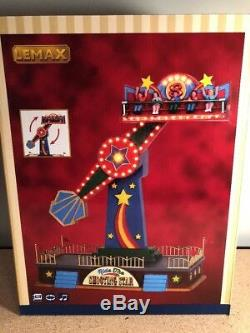 Lemax Ride The SHOOTING STAR Animated Carnival Ride with Sound & Lighting