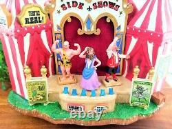 Lemax Side Show Circus Carnival Fair Freak Show 64492 Animated Rare Retire VIDEO