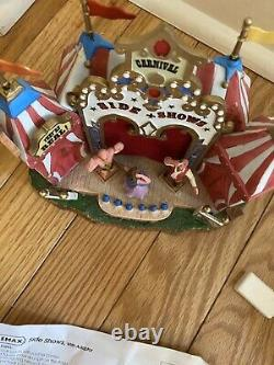 Lemax Side Show Circus Carnival Fair Freak Show Animated Rare Retired VIDEO