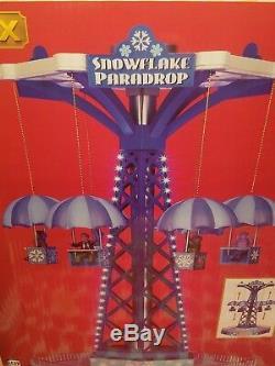 Lemax Snowflake Paradrop Carnival Ride Amusement Park Christmas Village