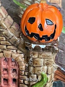 Lemax Spooky Town HEMLOCK'S NURSERY As is Works but with repairs & No Cord