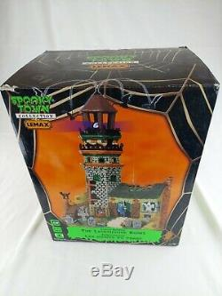 Lemax Spooky Town Halloween Collection The Lighthouse Ruins with Box #15209 2011