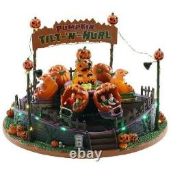 Lemax Spooky Town Illuminated & Animated TILT N HURL Carnival Ride with Sound