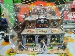 Lemax Spooky Town Road Kill Roadhouse Used tested Item Worldwide Ship Sold as It