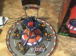 Lemax Spooky Town -Zombie Plane Ride-Animated Holiday Village-Carnival Midway
