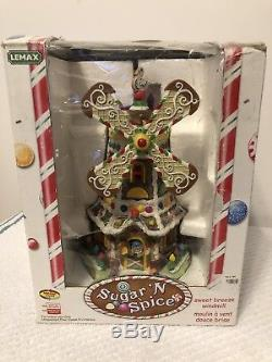 Lemax Sugar N Spice Sweet Breeze Windmill Animated Village House WORKS