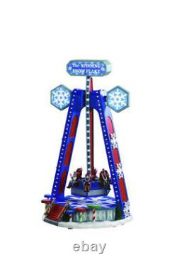 Lemax THE SPINNING SNOWFLAKE Carnival Ride Animated Music Holiday Christmas 2020