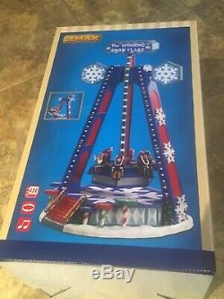 Lemax THE SPINNING SNOWFLAKE Carnival Ride Animated & Music Holiday Village 2020