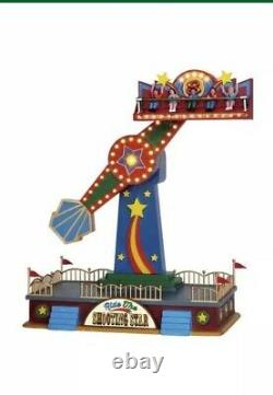 Lemax The Shooting Star Holiday Village Carnival Ride -Train Accent
