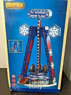 Lemax The Spinning Snowflake Village Carnival Ride Animated Sights And Sounds