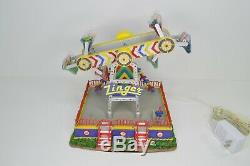 Lemax Village Carnival Collection The Zinger Amusement Park Ride Musical TESTED