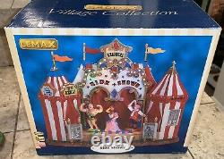 Lemax Village Carnival Side Show Animated Lighted Motion In Box Rare Retired