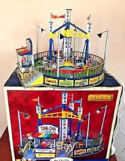 Lemax Village Collection Carnival The Cha Cha Ride Animated Motion w Box