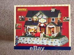 Lemax Village Collection The Barkley-Dog Hotel & Spa Building with 4.5V Adaptor