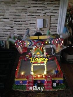 Lemax Zinger Animated Action Carnival Ride Accessory-boxed
