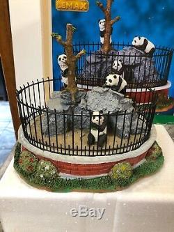 Lemax Zoo Bear Panda Cage #93770 Carnival Christmas Train Village 2009 MIB