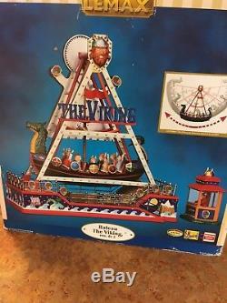Lemax carnival ride the VIKING SHIP amusement park christmas village fair