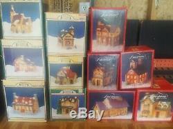 Lot Of 6 Christmas Valley Village Houses plus 5 Americana plus 5 dickens 16 tota