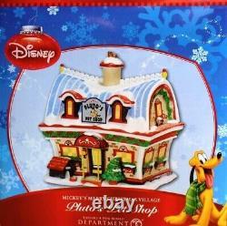 MINT Dept 56 Disney, Pluto's Pet Shop #811265, Mickey's Merry Christmas Village