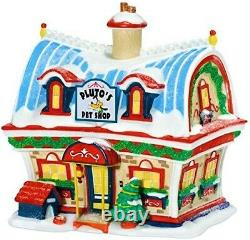 MINT Dept 56 Disney, Pluto's Pet Shop #811265, Mickey's Merry Christmas Village