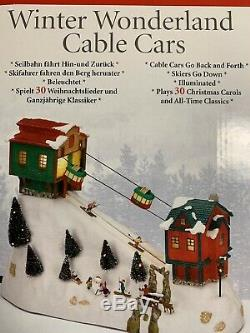 MR CHRISTMAS ANIMATED CABLE CARS With MUSIC FITS LEMAX DEPT 56 DEPARTMENT 56