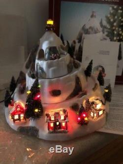 St Nicholas Christmas Village.Mr Christmas Animated Holiday Hill Sledding St Nicholas Square
