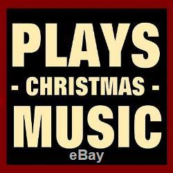 MUSICAL CHRISTMAS COTTAGE with SANTA & ELF / LED LIGHTING / ORIGINAL BOX