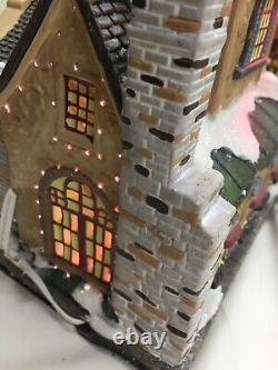 Members Mark Victorian Village Hand Painted Christmas Skating Awesome Holiday