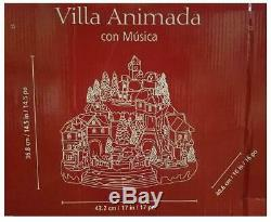 Mr. Christmas Animated Village with Music Plays 8 Carols