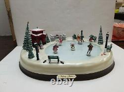 Mr Christmas Holiday Skaters Village Ice Rink Special Edition Target Vintage HTF