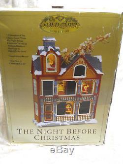 Mr Christmas The Night Before Christmas House Windows