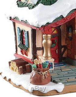 NEW 2018 Lemax Village Lighted Building The Claus Cottage Christmas Table Decor
