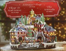 NEW 2019 Christmas Animated Holiday Musical Winter Village Moving Train 8 Songs