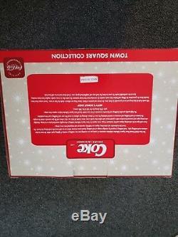 NEW Coca-Cola Brand Fiber Optic Town Square Building Betty's Donut Shop RARE
